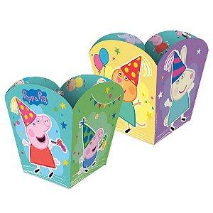 Cachepot Papel Peppa Pig Clássica - 4 unidades - Regina - Rizzo Festas
