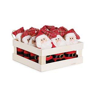 Mini Box Mini Noéis Touca Xadrez - 12 unidades - Cromus Natal - Rizzo Confeitaria