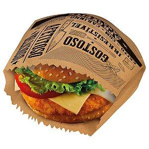 Saquinho para Lanche Kraft - 13,5x13,5x5cm - 50 unidades - Food Service FestColor - Rizzo