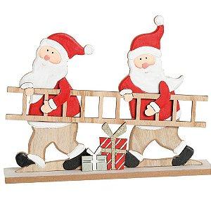 Noel Segurando Escada 23cm - 01 unidade - Cromus Natal - Rizzo Confeitaria