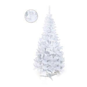Árvore de Natal Portobelo Branca 2,10m - 01 unidade - Cromus Natal - Rizzo Confeitaria