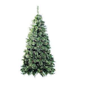 Árvore de Natal Cannes Verde com Glitter Nude 1,50m - 01 unidade - Cromus Natal - Rizzo Confeitaria