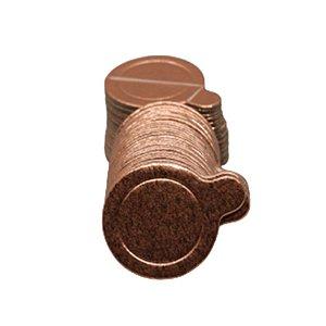 Base para Doce - Rose Gold - 3,5cm - 50 unidades - UltraFest - Rizzo Confeitaria