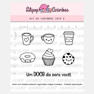 Carimbo Cafe 2 Cod 31000030 - 01 Unidade - Lilipop Carimbos - Rizzo