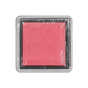 Almofada para Carimbo em Plástico e Espuma - Carimbeira Pink 2,5x2,5cm - 01 Unidade - Rizzo