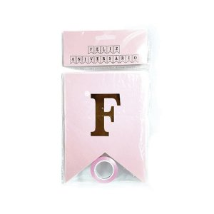 Letras Decorativas Feliz Aniversário Rosa - 1 Unidade - YOSS - Rizzo Confeitaria