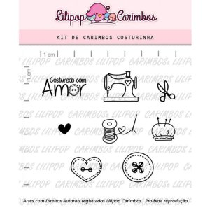 Carimbo Costurinhas Cod 31000039 - 01 Unidade - Lilipop Carimbos - Rizzo