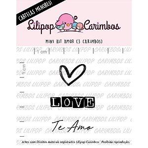 Carimbo Mini Amor - Cod 31000052 - 01 Unidade - Lilipop Carimbos - Rizzo