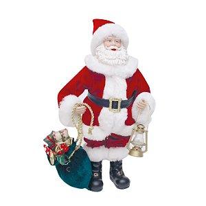 Noel Decorativo com Lanterna 28cm - 01 unidade - Cromus Natal - Rizzo Confeitaria