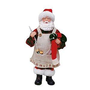 Noel Costureiro Vermelho 28cm - 01 unidade - Cromus Natal - Rizzo Confeitaria