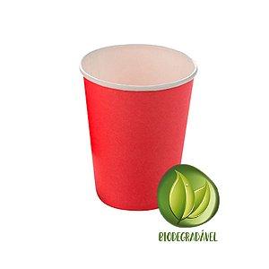 Copo Papel Liso Biodegradável 270 ml  - 10 un - Vermelho - Silver Festas - Rizzo Confeitaria