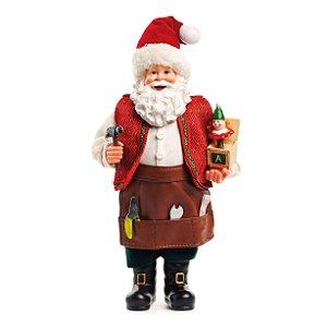 Noel Decorativo com Ferramentas 30cm - 01 unidade - Cromus Natal - Rizzo Confeitaria