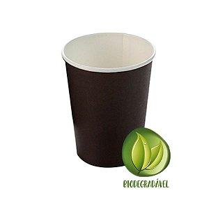 Copo Papel Liso Biodegradável 270 ml  - 10 un - Preto - Silver Festas - Rizzo Confeitaria