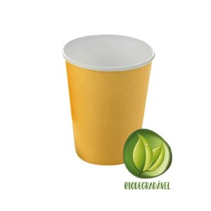 Copo Papel Liso Biodegradável 270 ml  - 10 un - Dourado sem Brilho - Silver Festas - Rizzo Confeitaria