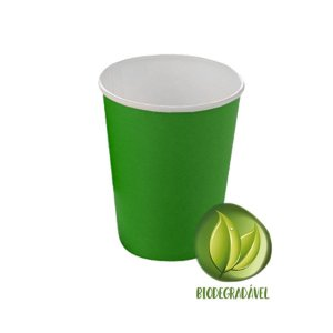Copo Papel Liso Biodegradável 270 ml  - 10 un - Verde - Silver Festas - Rizzo Confeitaria