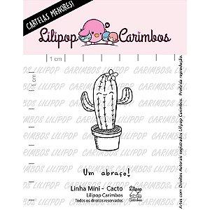 Carimbo Mini Cacto - Cod 31000057 - 01 Unidade - Lilipop Carimbos - Rizzo