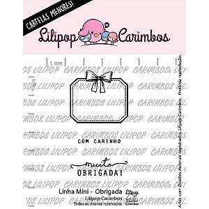 Carimbo Mini Obrigada Cod 31000069 - 01 Unidade - Lilipop Carimbos - Rizzo