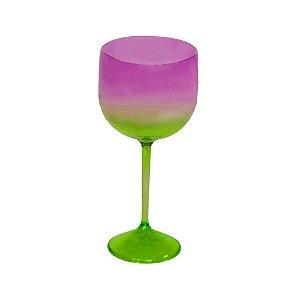 Taça Gin Acqua com 550ml Degradê Verde e Roxo - Rizzo