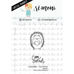 Carimbo Mini Com Amor  Cod 41000036 - 01 Unidade - Lilipop Carimbos - Rizzo