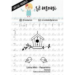 Carimbo Mini Passarinho  Cod 41000037 - 01 Unidade - Lilipop Carimbos - Rizzo