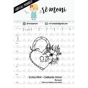 Carimbo Mini Cadeado Amor  Cod 41000073 - 01 Unidade - Lilipop Carimbos - Rizzo