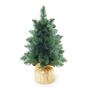 Mini Pinheiro Verde 40cm - 01 unidade - Cromus Natal - Rizzo Confeitaria