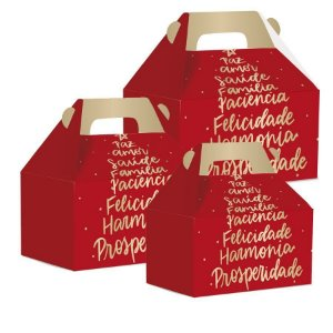 Caixa Maleta Kids Natal  -Votos- 10 unidades -Cromus - Rizzo Confeitaria