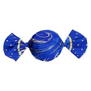 Folha Trufa Marmore Azul 14,5x15,5 - 100 unidades - Cromus - Rizzo Confeitaria