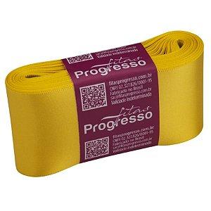 Fita de Cetim CF012 50mm - 10m Cor 763 Amarelo Gema - 01 unidade - Progresso - Rizzo