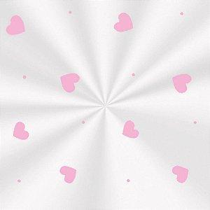Saco Transparente Decorado Love Rosa - 10x14cm - 100 unidades - Cromus - Rizzo