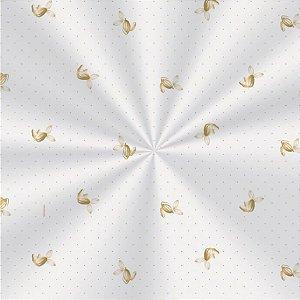 Saco Transparente Decorado Sabor Ouro - 10x14cm - 100 unidades - Cromus - Rizzo