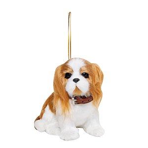 Enfeite para Pendurar Pelúcia Cachorro Shitzu - 01 unidade - Cromus Natal - Rizzo