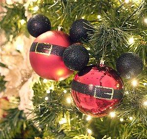 Kit Bolas Roupa Mickey 8cm - 04 unidades Natal Disney - Cromus - Rizzo Confeitaria