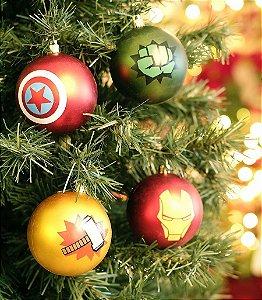 Kit Bolas Avengers 8cm - 04 unidades Natal Disney - Cromus - Rizzo Confeitaria