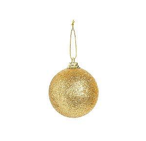 Bola Glitter Ouro 04cm - 12 unidades - Cromus Natal - Rizzo Confeitaria