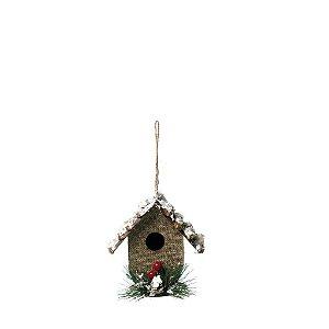 Enfeite para Pendurar Casa Natural 10cm - 01 unidade - Cromus Natal - Rizzo