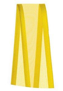 Fita Voal com Cetim Progresso 22mm nº5 - 10m Cor 763 Amarelo Gema - 01 unidade