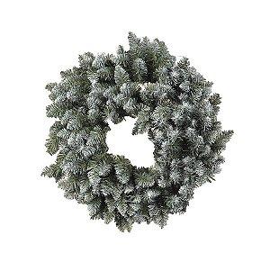 Guirlanda com Galhos Nevados 40cm - 01 unidade - Cromus Natal - Rizzo Confeitaria