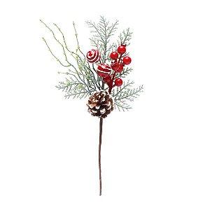 Pick Natal Vermelho/Verde - 01 unidade - Cromus Natal - Rizzo Confeitaria