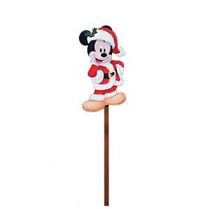 Pick  para Jardim para Decoração Mickey Noel 35cm - 01 unidade - Natal Disney - Cromus Natal - Rizzo Confeitaria