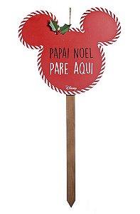 Pick Grande para Jardim para Decoração Mickey Pare Vermelho 90cm - 01 unidade Natal Disney - Cromus - Rizzo Confeitaria
