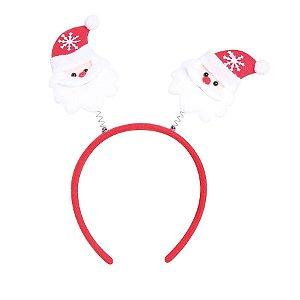 Tiara Noéis Vermelho e Branco - 01 unidade - Cromus Natal - Rizzo Confeitaria