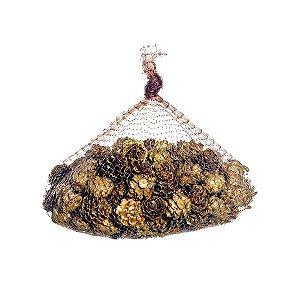 Saquinho com Pinhas Natural 20cm - 01 unidade - Cromus Natal - Rizzo Confeitaria
