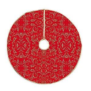 Saia para Árvore com Arabescos Ouro Glitter 120cm - 01 unidade - Cromus Natal - Rizzo Confeitaria