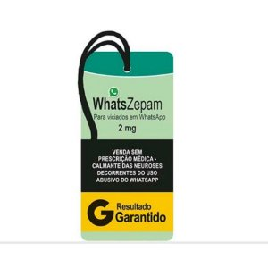 """Decor Home Tag """"WhatsZepam"""" - DHT2-109 - LitoArte - Rizzo"""