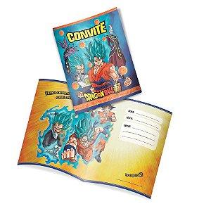 Convite Festa Dragon Ball Super - 8 peças - 1 Unidades - Festcolor - Rizzo