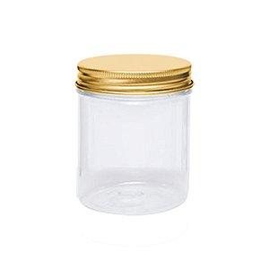 Pote Redondo Plástico com Tampa Metal Rosqueável 5,5x7,5 - 4 Uni - Artegift - Rizzo