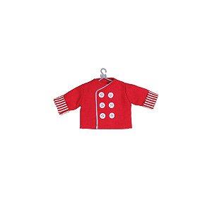 Enfeite para Pendurar Doma Cozinheiro Vermelha - 01 unidade - Cromus Natal - Rizzo