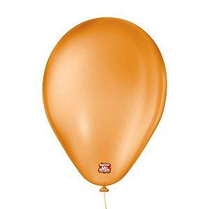 """Balão de Festa 6,5"""" Basic - Laranja - 50 Unidades - Balões São Roque - Rizzo"""