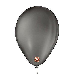 """Balão de Festa 6,5"""" Basic - Preto - 50 Unidades - Balões São Roque - Rizzo"""